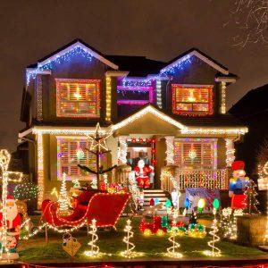 meilleur éclairage solaire de Noël